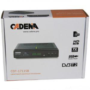 Приемник цифровой эфирный DVB-T2 Cadena CDT-1711SB