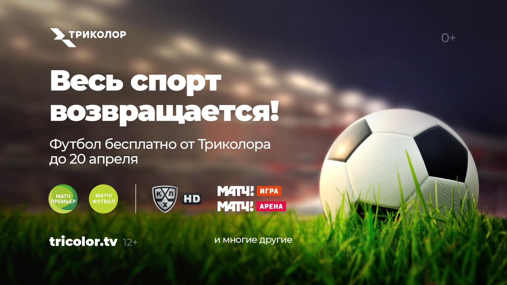 футбол спорт триколор спортивные каналы
